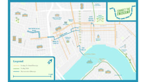 Connect The Crescent – Protected Bikeway Demonstration in Downtown New Orleans