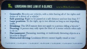 Education-Bike Law Card