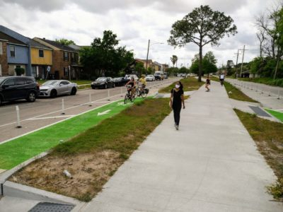 Check Out the Algiers Bikeways Before & After Photos
