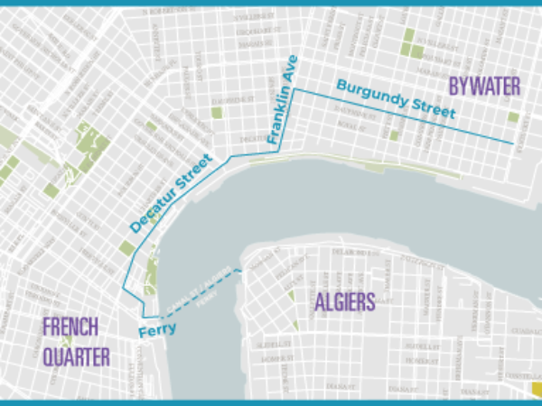 Routes for Getting Around New Orleans